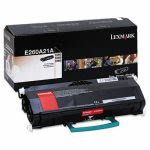 Lexmark E260A21A Toner Cartridge, 3500 Page-Yield, Black (LEXE260A21A)