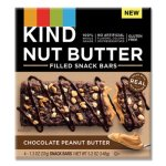 Kind Nut Butter Snack Bars, Chocolate Peanut Butter, 1.3 oz, 4 Bars (KND26286)