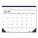 Doolittle Monthly Desk Pad Calendar, 22 x 17, Blue/Gray, 2021 (HOD150HD)