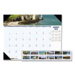 Doolittle Monthly Desk Pad Calendar, 22 x 17, Coastline, 2020 (HOD178)