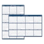 Doolittle Laminated Wipe-Off Reversible Wall Calendar, 24 x 37, 2021 (HOD396)