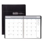 Doolittle Monthly Planner, 14-Month 6-7/8 x 8-3/4, Black, 2018-2020 (HOD262602)
