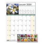 house-of-doolittle-floral-monthly-wall-calendar-12-x-16-1-2-2020-hod327