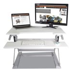 victor-high-rise-standing-desk-keyboard-tray-white-gray-each-vctdcx710w