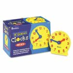 learning-resources-set-of-six-four-inch-geared-learning-clocks-for-grades-pre-k-to-4-lrnler2202