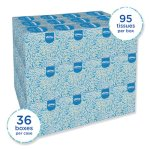 Kleenex Boutique White Facial Tissue, 2-Ply, 95/Box, 36 Boxes/Ctn (KCC21270CT)