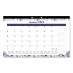 blueline-passion-2020-monthly-desk-pad-calendar-floral-each-redc195113