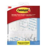Command Clear Hooks and Strips, Plastic, 53 Pieces/Pack  (MMM17232ES)