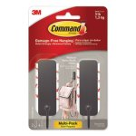 Command Hooks, Matte Black, 2 Hook and 4 Strips/Pack (MMM17034MB2ES)