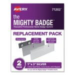 avery-the-mighty-badge-horizontal-holders-only-silver-2-pack-ave71202