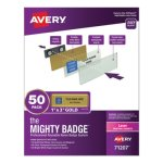 avery-the-mighty-badge-1-x-3-laser-gold-50-holders-120-inserts-ave71207