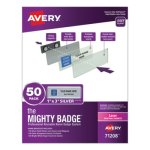 avery-the-mighty-badge-1-x-3-laser-silver-50-holders-120-inserts-ave71208