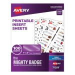 avery-the-mighty-badge-1-x-3-clear-inkjet-inserts-only-100-pack-ave71209