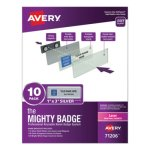avery-the-mighty-badge-1-x-3-laser-silver-10-holders-80-inserts-ave71206
