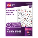 avery-the-mighty-badge-1-x-3-clear-laser-inserts-only-100-pack-ave71210
