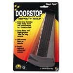 Master Caster Giant Foot Doorstop, No-Slip Rubber Wedge, Brown (MAS00964)