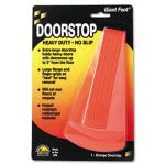 Master Caster Giant Foot Doorstop, No-Slip Rubber Wedge, Orange (MAS00965)