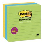 Post-it Notes Original Pads in Jaipur Colors, Lined, 3 Pads (MMM6753AUL)