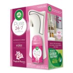 Air Wick Freshmatic Ultra Automatic Pure Starter Kit, 3.33 x 3.53 x 7.76, White, Tropical Flowers 4/Carton (RAC88414)