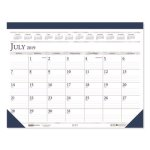 Doolittle Academic Monthly Desk Pad Calendar, Blue/Gray, 2020-2021 (HOD1556)