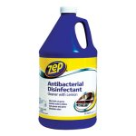 Zep Antibacterial Disinfectant Cleaner, Gallon, Lemon, 4 Bottles (ZPEZUBAC128CT)