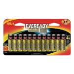 Eveready Gold AA Batteries, Alkaline, 1.5V, 24 Batteries (EVEA91BP24)