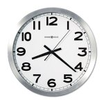 "Howard Miller Round Wall Clock, 15-3/4"", Silver, 1 Each (MIL625450)"