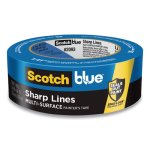 "ScotchBlue Sharp Lines Painter's Tape, 1.41"" x 45 yd, 3"" Core, Blue (MMM209836D)"