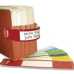 Tabbies File Pocket Handles, 9-5/8 x 2, Red/White, 48/Pack (TAB68805)