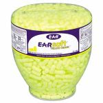 3M E-A-Rsoft Neon Tapered Earplug Refill, Yellow, 500 Refills (MMM3911004)