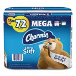 Charmin Ultra Soft 2-Ply Bathroom Tissue, Septic Safe, 18 Rolls (PGC52776)