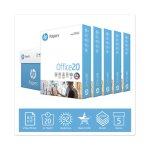 Hp Papers Office20 Paper, 92 Bright, 20lb, 8.5 x 11, White, 5 Reams (HEW172160)