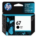 HP 67, (3YM56AN) Black Original Ink Cartridge, 1 Each (HEW3YM56AN)