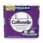 Cottonelle Ultra CleanCare 2-Ply Toilet Paper, 284/Roll, 12 Rolls (KCC48596)