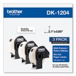 Brother Die-Cut Multipurpose Labels, 0.66 x 3.4, White, 400/Roll, 3 Rolls/Pack (BRTDK12043PK)