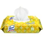 Lysol Flatpack Disinfecting Wipes, Lemon & Lime, 80/Pack, 6 Packs (CS199716CT)