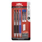 Uni-ball 207 Mechanical Pencil with Lead and Eraser Refills, 0.7 mm, HB (#2), Black Lead, Assorted Barrel Colors, 3/Set (UBC70139)
