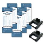 Acroprint EXP250 Accessory Bundle, 3.38 x 8.25, Weekly, Two-Sided, 250 Cards and 2 Ribbons/Kit (ACPEXP250)