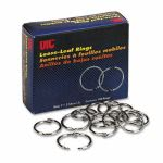 "Officemate Officemate Book Rings, 1"", Nickel-Plated Steel, 100 Rings (OIC99701)"