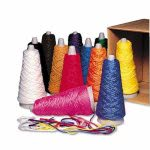 Pacon Double Weight Yarn Cones, 2 oz, Assorted Colors, 12 per Box (PAC00590)