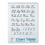 Pacon Chart Tablets w/Cursive Cover, Ruled, 24 x 32, White, 25 Sheets (PAC74610)
