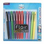 paper-mate-flair-porous-point-stick-pen-assorted-ink-medium-dozen-pap74423