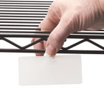 Panter Company Wire Rack Shelf Tag, Side Load, White, 10 Tags (CLI87411)