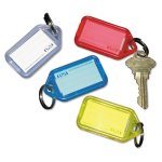 "Securit Extra Color-Coded Key Tags, 1 1/8"" x 2 1/4"", 4 Tags (ICX94190034)"