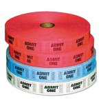 pm-company-admit-one-ticket-multi-pack-4-rolls-2-red-1-blue-1-white-2000roll-pmc59001