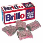 Brillo Steel Wool Soap Pads, Charcoal/Pink, 120 Pads (PUR W240000)