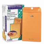 quality-park-clasp-envelope-6-x-9-28lb-brown-kraft-100-box-qua37855