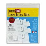 redi-tag-laser-printable-index-tabs-1-1-8-inch-white-100-pack-rtg33117