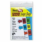 Redi-Tag Removable Page Flags, Green/Yellow/Red/Blue/Orange, 50 Flags (RTG76830)