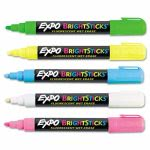 Expo Bright Wet-Erase Fluorescent Marker Set, Bullet Tip, Assorted (SAN14075)